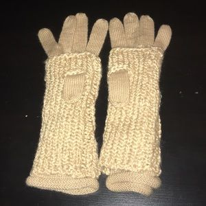 Like new. Ralph Lauren gloves/arm warmers. Tan